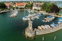 De Haven van Lindaubodensee royalty-vrije stock afbeeldingen