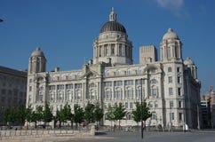 De haven van Liverpool de bouw Royalty-vrije Stock Afbeeldingen
