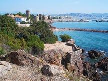 De haven van mandelieu-La Napoule stock foto's
