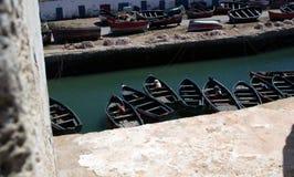 De Haven van Marokko met kleine vissersboten royalty-vrije stock fotografie