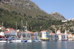 In de haven van Megisti, Kastelorizo Royalty-vrije Stock Foto's