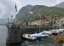 De haven van Menaggio op Meer Como Stock Afbeelding