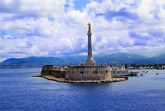 De haven van Messina Stock Foto's