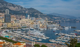 De haven van Monaco Stock Foto's