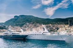 De haven van Monte Carlo, Monaco, Frankrijk Royalty-vrije Stock Fotografie