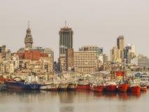 De Haven van Montevideo Stock Foto's