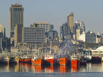 De Haven van Montevideo Royalty-vrije Stock Foto