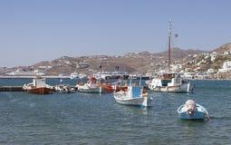 De haven van Mykonos Stock Foto