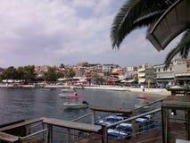 de haven van neosmarmaras van Griekenland Stock Afbeelding