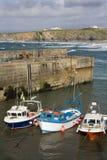 De Haven van Newquay - Cornwall - het Verenigd Koninkrijk stock afbeelding