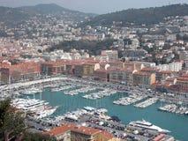 De haven van Nice, Frankrijk Royalty-vrije Stock Foto's