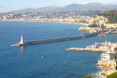 De haven van Nice, Frankrijk stock fotografie