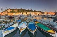 De Haven van Nice, Frankrijk Stock Foto