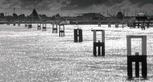 De haven van Nieuwpoortbelgië Royalty-vrije Stock Afbeeldingen