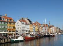 De haven van Nyhavn in Kopenhagen Denemarken Royalty-vrije Stock Foto's
