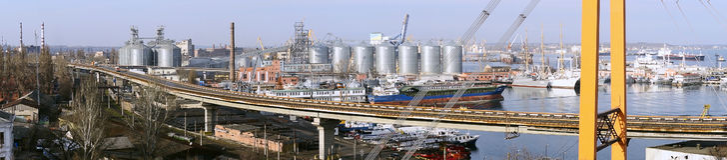 De haven van Odessa Stock Foto