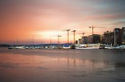 De haven van Oslo Stock Foto's