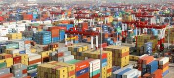 De Terminal van de container stock fotografie