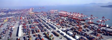 De Terminal van de container stock foto
