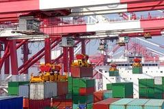 De Terminal van de container stock afbeelding