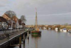 De haven van Ribe Stock Afbeelding