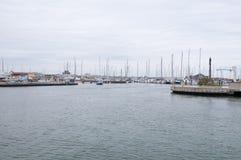 De haven van rimini op een regenachtige dag Stock Afbeeldingen