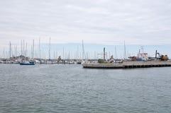 De haven van rimini op een regenachtige dag Royalty-vrije Stock Foto's