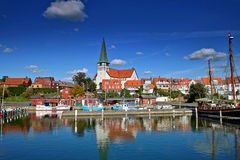 De haven van Roenne op Bornholms royalty-vrije stock afbeeldingen