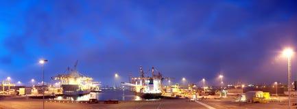De Haven van Rotterdam Stock Foto