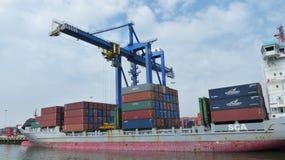 De Haven van Rotterdam Stock Afbeelding