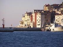 De haven van Rovinj, Kroatië Stock Foto's
