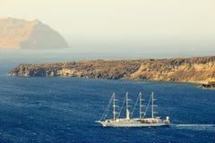 De haven van Santorini stock afbeelding