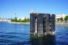 De haven van Seattle: dok royalty-vrije stock foto's