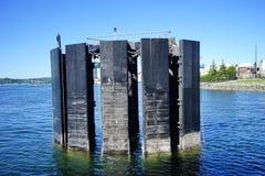 De haven van Seattle: dok stock afbeelding
