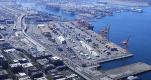 De haven van Seattle, Washington het verschepen verrichting 4K