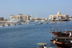 De haven van Sharjah, de V.A.E stock foto's