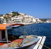 De haven van Skiathos royalty-vrije stock foto's