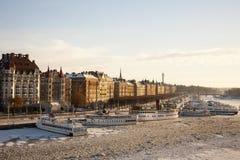 De Haven van Stockholm Stock Foto