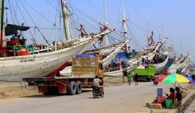 De haven van Sundakelapa Stock Afbeeldingen