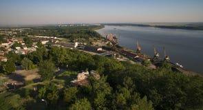 De haven van Svishtov, Bulgarije, Juli 2017 stock fotografie
