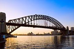 De haven van Sydney bij dageraad Royalty-vrije Stock Foto