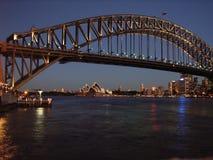 De haven van Sydney bij dageraad Stock Afbeeldingen