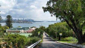 De haven van Sydney onderaan straat Royalty-vrije Stock Foto