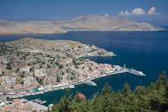 De Haven van Symi Stock Foto's