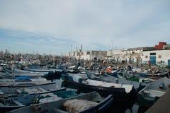 de haven van Tanger Stock Afbeeldingen