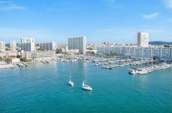 De haven van Toulon, Frankrijk Royalty-vrije Stock Afbeeldingen