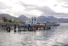 De haven van Ushuaia Stock Foto