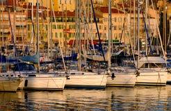De Haven van Vieux, Cannes, Frankrijk Stock Fotografie