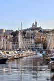 De Haven van Vieux, Marseille (Frankrijk) Stock Foto