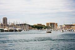 De haven van Vieux (Oude haven) in Marseille Stock Fotografie
